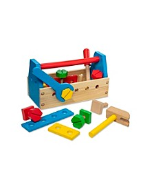 Melissa Doug Jumbo Wooden Tool Kit Toy Nursery Playroom Décor – Classic Red, Yellow, Green, Blue