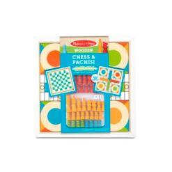 Melissa and Doug Wooden Chess and Pachisi