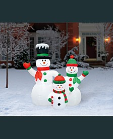 6' Inflatable Snowman Family