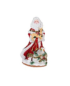 Yuletide Holiday Santa Musical Figurine-Joy to the World