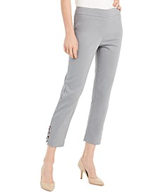 Tummy Control Hardware-Trim Ankle Pants, Created For Macy's