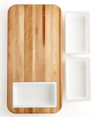 catskill craft cutting board with tray  cutlery  knives, Kitchen design