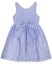 Little Girls Embroidered Eyelet Dress