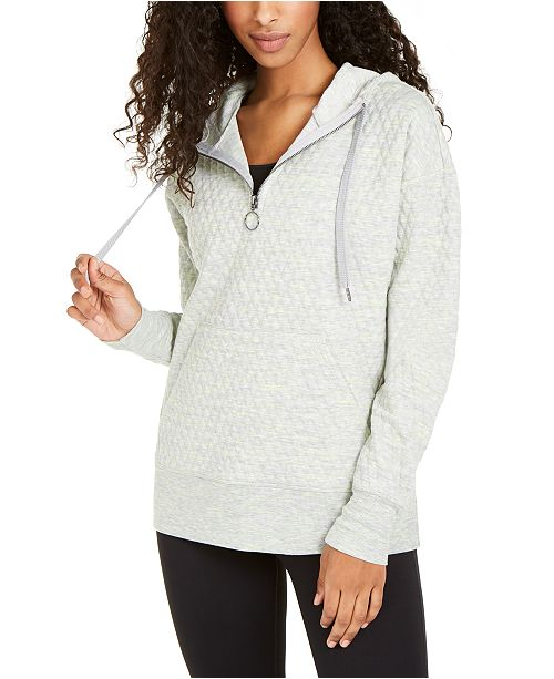 Ideology Quilted Quarter-Zip Hoodie, Created for Macy's