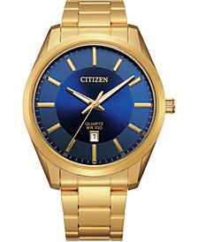 Men's Quartz Gold-Tone Stainless Steel Bracelet Watch 42mm