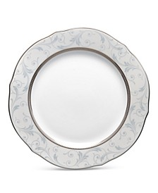 Regina Platinum Scalloped Accent Plate, 9""