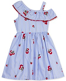 Big Girls Embroidered Ruffled Dress