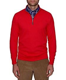 Men's Popcorn Textured Quarter-Zip Pullover