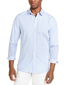 INC Men's ONYX Stripe Shirt, Created for Macy's