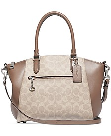 Coated Canvas Signature Elise Satchel