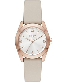 Women's Nolita Taupe Leather Strap Watch 34mm