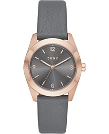 Women's Nolita Gray Leather Strap Watch 34mm