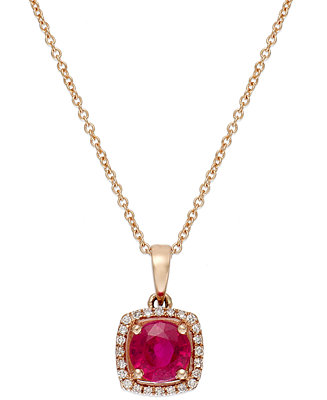 Rosa by effy ruby 1 ct t w and diamond accent square for Macy s jewelry clearance