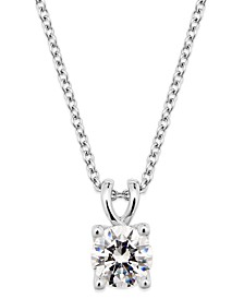 Certified Diamond Pendant Necklace in 18k White Gold, Created for Macy's