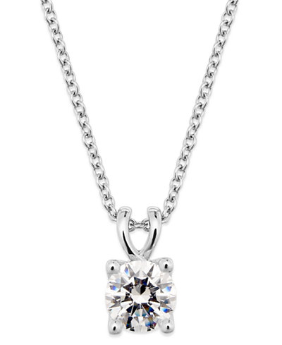 X3 certified diamond pendant necklace in 18k white gold created for x3 certified diamond pendant necklace in 18k white gold created for macys aloadofball Images