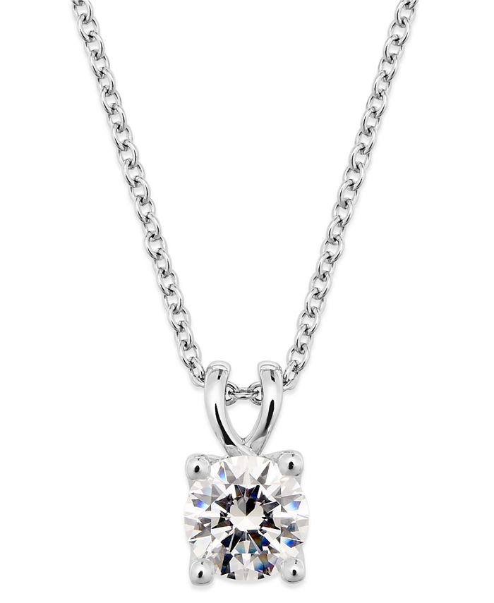 X3 - Certified Diamond Pendant Necklace in 18k White Gold
