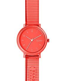 Women's Aaren Transparent Coral Polyurethane Strap Watch 36mm
