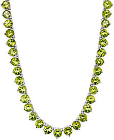 Sterling Silver Necklace, Peridot (40 ct. t.w.) Continuous Necklace