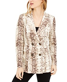 Snake-Print Blazer, Created For Macy's