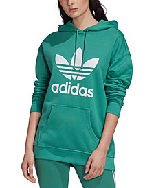 adidas Originals Women's adicolor Cotton Trefoil Hoodie