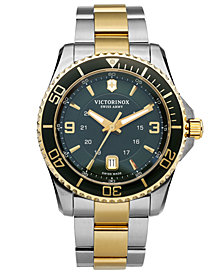 Victorinox Swiss Army Watch, Men's Maverick GS Two-Tone Stainless Steel Bracelet 43mm 241605