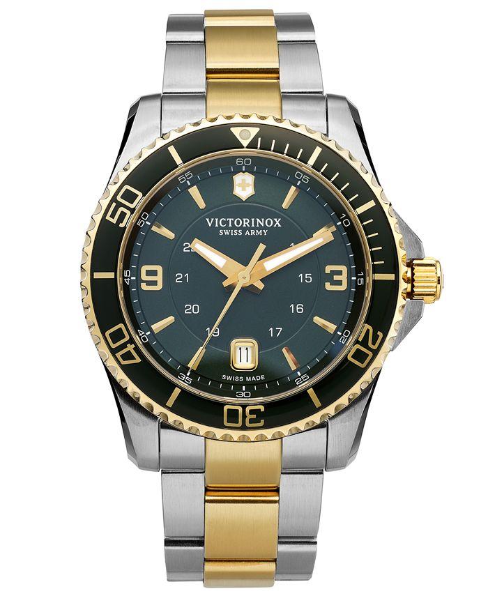 Victorinox Swiss Army - Watch, Men's Maverick GS Two-Tone Stainless Steel Bracelet 43mm 241605