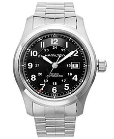 Watch, Men's Swiss Automatic Khaki Field Stainless Steel Bracelet 42mm H70515137