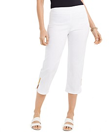 Embellished-Cuff Capri Pants, Created For Macy's