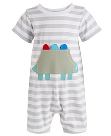 Baby Boys Dino Pocket Striped Cotton Sunsuit, Created for Macy's