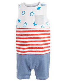 Baby Boys Stars & Stripes Cotton Sunsuit, Created for Macy's