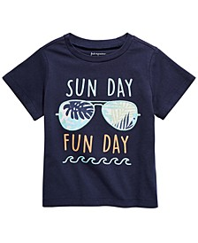 Baby Boys Sunday Funday-Print Cotton T-Shirt, Created For Macy's
