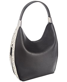 Snake Colorblock Bangle Hobo, Created for Macy's