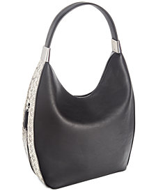 Alfani Snake Colorblock Bangle Hobo, Created for Macy's
