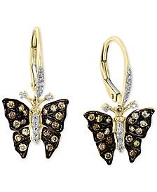 EFFY® Diamond Butterfly Drop Earrings (1/2 ct. t.w.) in 14k Gold