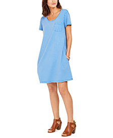 Style & Co One-Pocket T-Shirt Dress, Created for Macy's