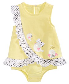 Baby Girls Chicks Cotton Sunsuit, Created for Macy's