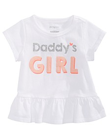 Baby Girls Daddy's Girl-Print Cotton T-Shirt, Created for Macy's