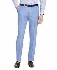 Men's Modern-Fit Light Blue Solid Suit Pants