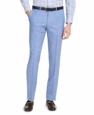 Hugo Men's Modern-Fit Light Blue Solid Suit Pants