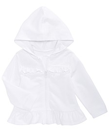Baby Girls Eyelet Hoodie, Created For Macy's