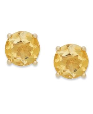 18k Gold over Sterling Sterling Earrings, November's Birthstone Citrine Stud Earrings (1-3/8 ct. t.w.)