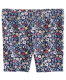 Baby Girls Floral-Print Biker Shorts, Created For Macy's