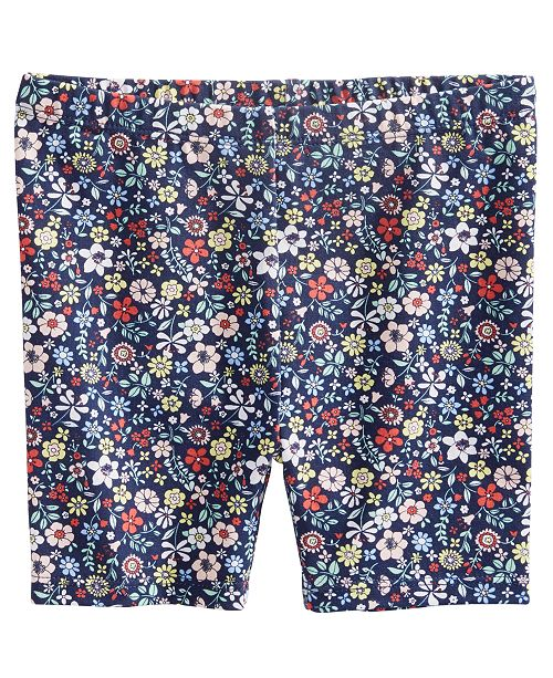 First Impressions Baby Girls Floral-Print Biker Shorts, Created for Macy's