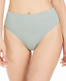Solid Emily High-Waist Bikini Bottoms, Created for Macy's