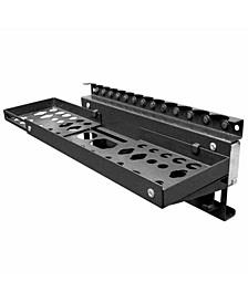 Black Steel Magnetic Multi-Function Tool Holder