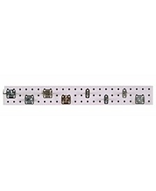 Locboard Garden Pegboard Kit with 1 18 Gauge Steel Square Hole Pegboard and 8 Piece Lochook Assortment