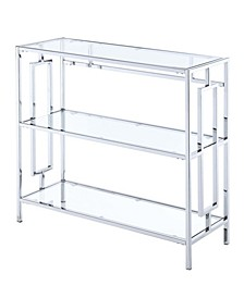 Town Square Chrome 3 Tier Bookcase