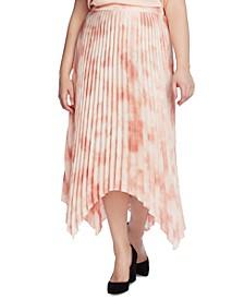 Plus Size Vapor Whisper Pleated Skirt