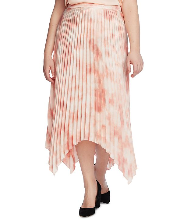 Vince Camuto Plus Size Vapor Whisper Pleated Skirt