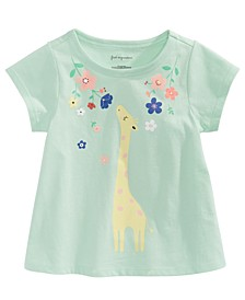 Baby Girls Giraffe-Print Cotton T-Shirt, Created for Macy's
